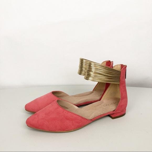 21ee32186 AEROSOLES Shoes | Girl Talk Ankle Strap Dorsay Flats Sz 5 | Poshmark